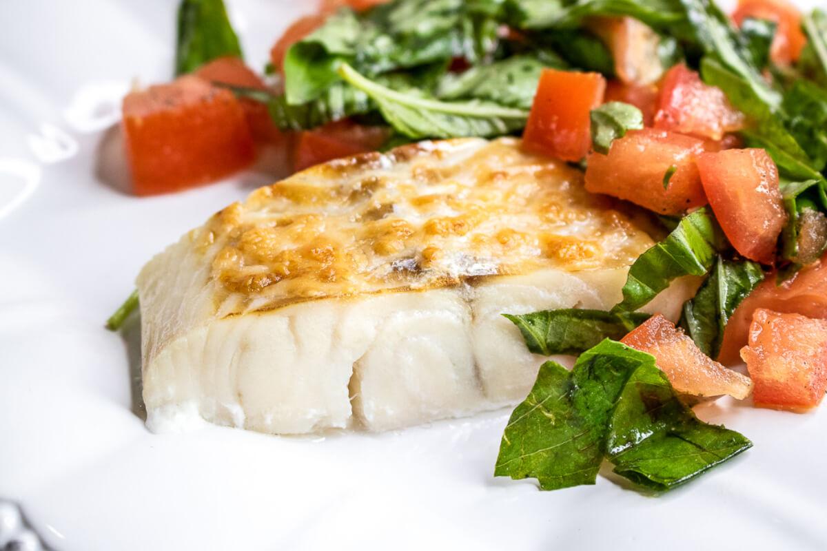 Parmesan Haddock with Fresh Tomatoes and Basil
